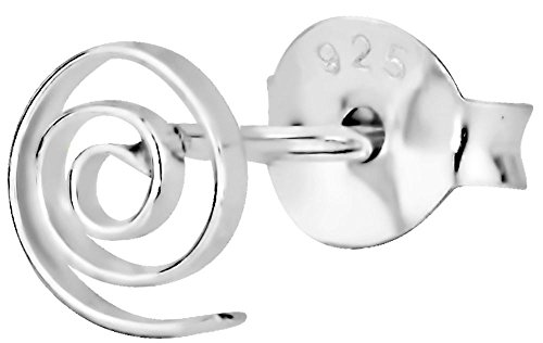 Cartilage Earring Stud: Sterling Silver Tiny Celtic Spiral Cartilage Earring (Sold Individually) ()