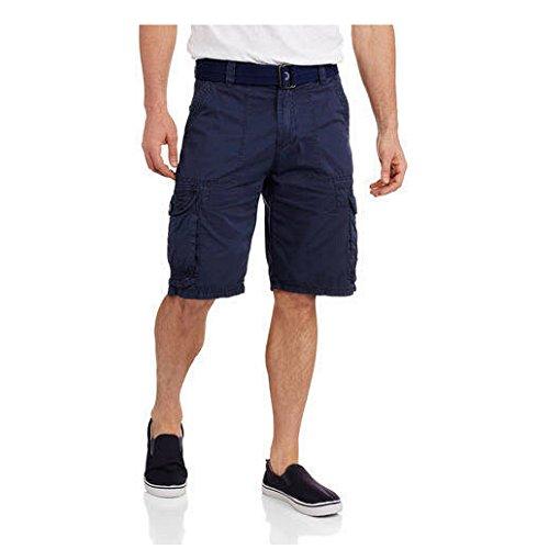 Repair Brand Men's Belted Cargo Shorts With Embellishments (Regular or Big & (Belt Clothing Brands)