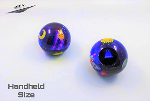Unique Retro Space Themed Emoji Magic Ball | Mini-Size | Only One in the Market | Mystic Fortune Teller | Question 8 Ball Game that Answers Questions & Gives Advice | Gift Ideas | Toys for all Ages