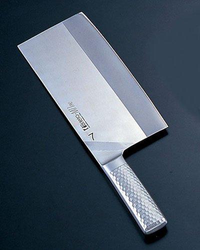 Kataoka Brieto-M11 Pro Molybdenum Vanadium Steel Cleaver #7 220 ~ 110 mm Medium Thickness, Fired M1169 by Kataoka
