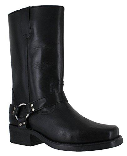 Gringos - Botas de cuero para hombre negro - negro