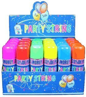 Blue Box Party String - not Silly String - 72 Cans