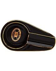 YUANYI sigaar asbak keramiek beschilderd Classic Mini draagbare huishoudasbak voor binnen en buiten gerookt geschenk decoratie asbak 4.33*2.36*0.94inch zwart