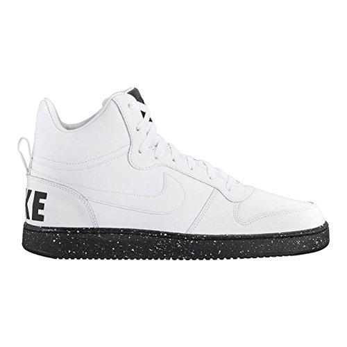 Borough 46 Homme Mid Blanc Imprime Court Nike Baskets 46 E8qpRTB