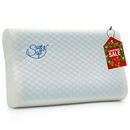 Save&Soft Gel Memory Foam Pillow - Doctor Recommended Contour Design - Reversible Orthopedic...