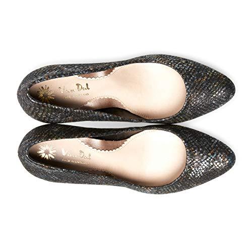 Women's Albion Toe Print Black Ii Dal Closed Van Viper Heels yCqF6ROWc5