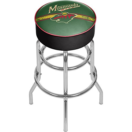 Trademark Gameroom NHL Minnesota Wild Chrome Bar Stool with Swivel