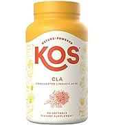 KOS CLA 1250 Safflower Oil Weight Loss Supplement - Natural Weight Management, Fat Burner - Incre...