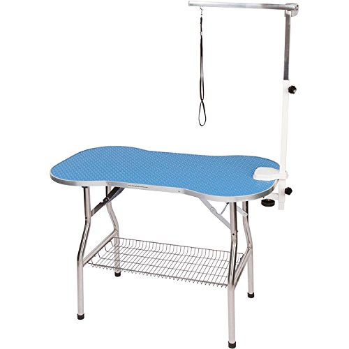 - Flying Pig Grooming Frame Table with Arm/Noose/Tray, Sky Blue, 38