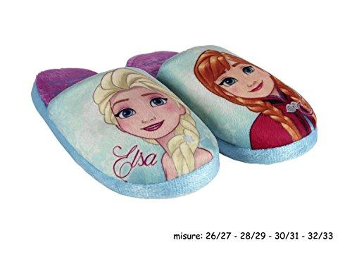 Frozen , Mädchen Hausschuhe blau himmelblau