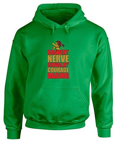 Brand88 Brave Lion, Printed Hoodie - Irish Green/Transfer 2XL