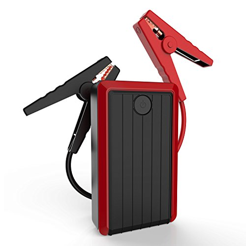 Diesel Starter Set - iClever 450A Peak 10000mAh Portable Car Jump Starter (up to 4.5L Gas, 3.0L Diesel Engine) Battery Booster Phone Charger Power Bank (Black)