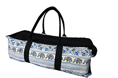 TimíGear Canvas Yoga Mat Duffel Bag with Inside Pocket, (Clarity)