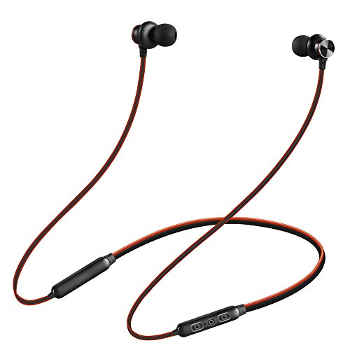 Bluetooth Headphones for Running, Wireless Sport Neckband Headset V4.2 Sweatproof Bluetooth Earbuds Around Neck with Mic, 15 Hours Playtime in-Ear Earphones by HAOMUK