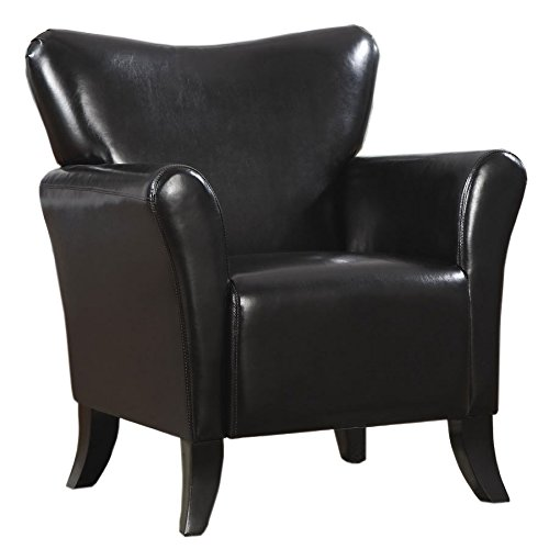 Coaster Casual Black Leatherette Upholstered Accent ()