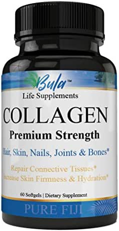 Life-Enhancing Premium Grade Collagen Pills Type 1, 2 & 3, Specially Formulated, Non-GMO Highest Quality Formula Skin, Hair, Joints & Bones