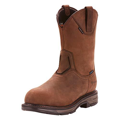 ARIAT Men's Workhog Xt Wellington Waterproof Carbon Toe Work Boot Oily Distressed Brown Size 10 Ee/Wide Us
