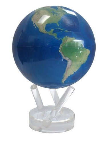 11cm Satellite View with Natural Earth Mova Globe Mova Globes MG45STENE