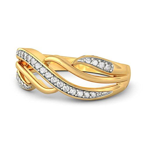 14K Or jaune, 0,1carat Diamant Blanc (IJ   SI) en diamant