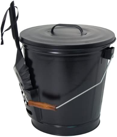 Panacea 15343 Ash Bucket with Shovel, Black 3-Pack