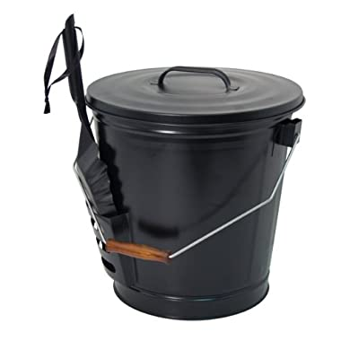 Panacea 15343 Ash Bucket with Shovel, Black