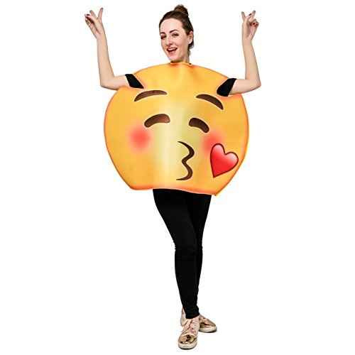 DSplay Emoticon Costumes for Unisex Adult OneSize (Blew a Kiss)