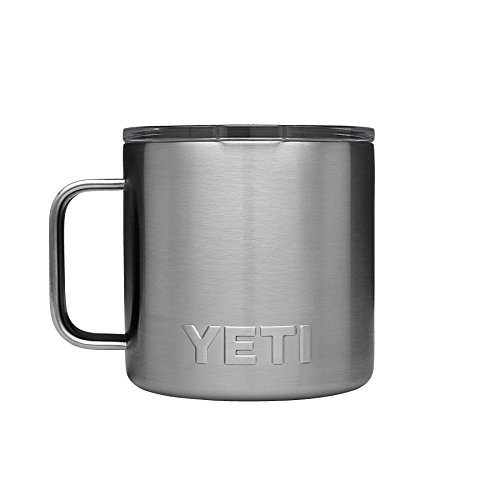 Steel Coffee Travel Mugs - YETI Rambler 14 oz Stainless Steel Vacuum Insulated Mug with Lid, Stainless