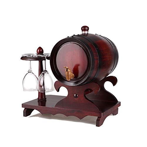 Barrel Oak Wine Barrel White Wine Wine Barrel Home Decoration Barrel Oak Beer Barrel HONGLIAN (Size : 1.5L) ()