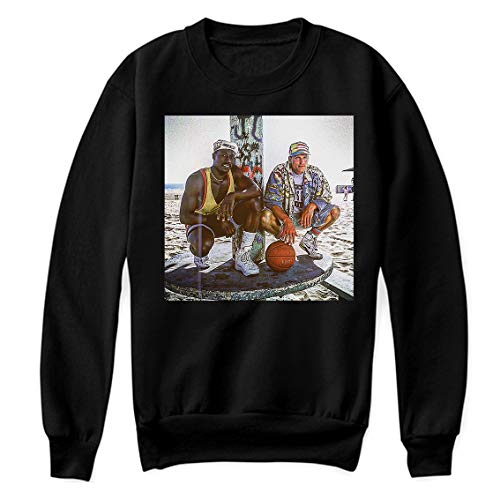 White Men can not Jump 90s Movies Vintage NBA Comedy Scary Sensational Gift Mens Womens Shirt Unisex Sweatshirt (Black-4XL)