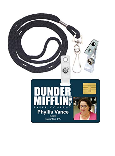 Phyllis Vance The Office Novelty ID Badge Film Prop for Costume and Cosplay • Halloween and Party Accessories -