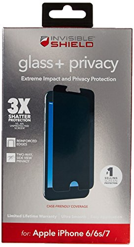 Cheap Screen Protectors ZAGG InvisibleShield Glass+ Privacy Screen Protector for Apple iPhone 8, iPhone 7,..