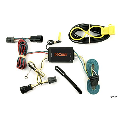 CURT 55503 Vehicle-Side Custom 4-Pin Trailer Wiring Harness for Select Hyundai Entourage, Kia Sedona
