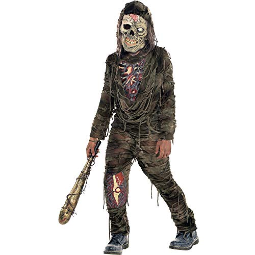 Suit Yourself Creepy Zombie Costume for Boys, Size Extra-Large, Includes a Pullover Shirt, Matching Pants, and a Mask]()
