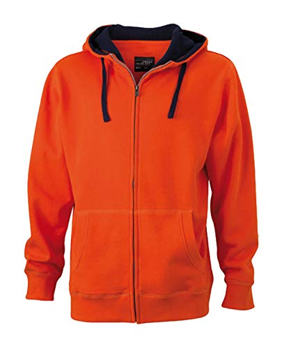 Felpa Cappuccio hoody Zip Men's E orange Dark Zip navy Giacca Lifestyle In g5x7wqTWSA
