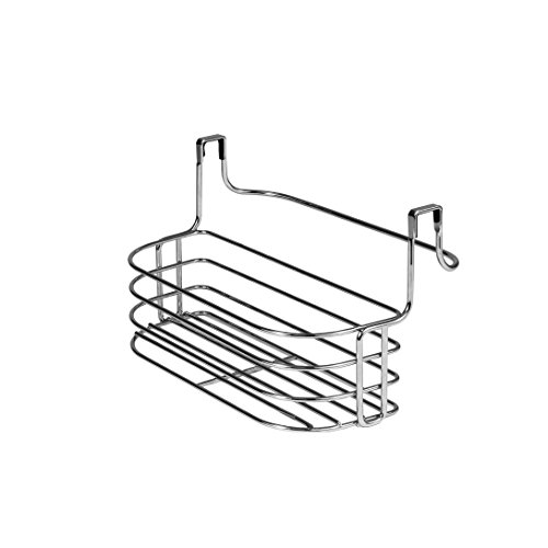 Spectrum Diversified Duo Over-the-Cabinet Towel Bar and Small Basket, Chrome