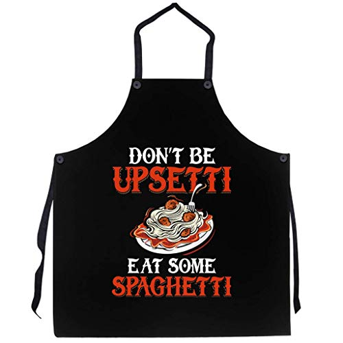 P.S. I Love Italy Eat Some Spaghetti Apron - Italian Themed Cool and Cute Bib Aprons for Men and Women