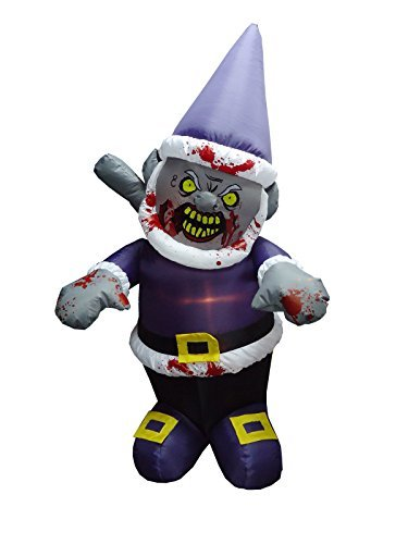 Halloween Inflatable-Zombie Gnome With Icepick-Halloween Yard Decoration by Morbid Enterprises
