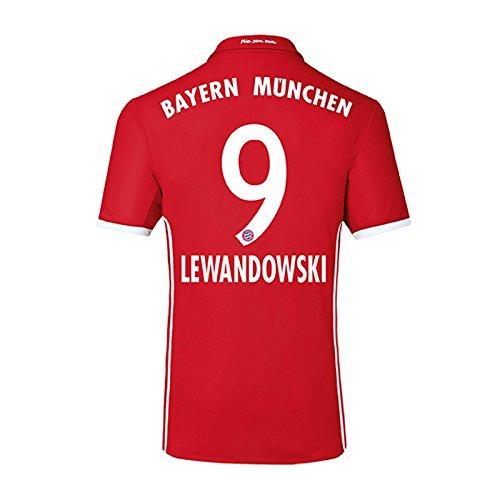 UKSoccershop 2016-17 Bayern Home Shirt (Lewandowski 9) - Kids ... 397917cc8