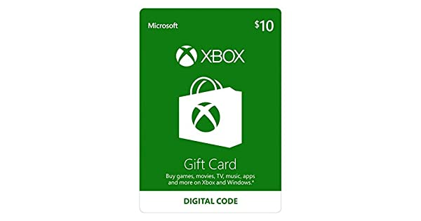 Amazon.com: $10 Xbox Gift Card [Digital Code]: Video Games