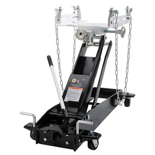 Omega 42000C Black Low Profile Transmission Jack - 1 Ton ()