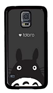Rugged Samsung Galaxy S5 Case and Cover - Totoro Custom Design PC Case Cover for Samsung Galaxy S5 - Black