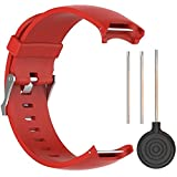 QGHXO Band for Garmin Approach S3, Soft Silicone Replacement Watch Band Strap for Garmin Approach S3 GPS Golf Watch (red)