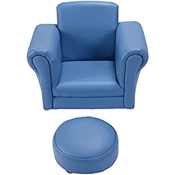Costzon Kids Chair and Ottoman Set with Rocking Function(blue)