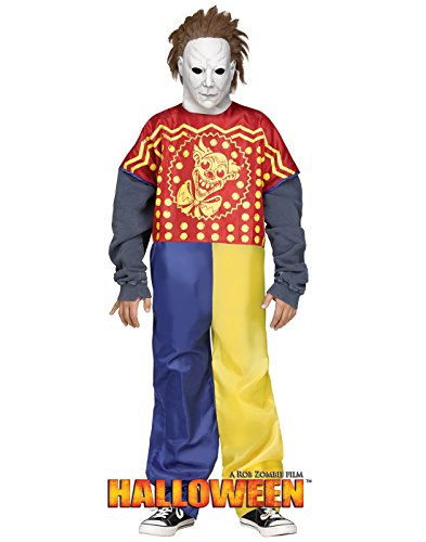 Michael Myers Clown Costumes (Fun World Big Boys' Young Michael Myers Clown Costume, Multi, Medium)