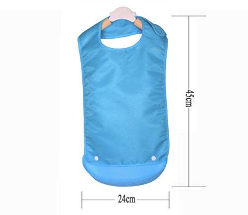 Adult Bib Silicone Bib Waterproof Bib for Man and Women-Blue Famlon