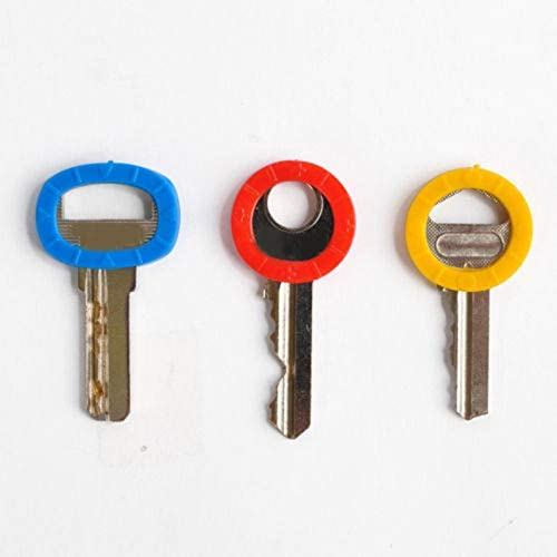 8Pc Bright Colors Hollow Silicone Key Cap Covers Topper Keyring With Bly Braille