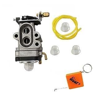 HURI Carburetor with Fuel Line Primer Bulb for Walbro WYA231 WYA23 WYA401 WYA40 WYA11 WYA-1-1