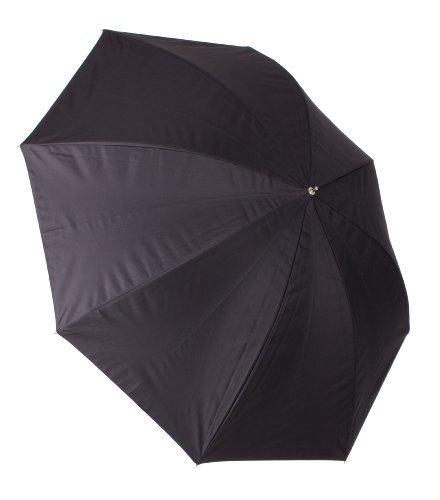 43 inch White Satin Umbrella with Removable Black Cover