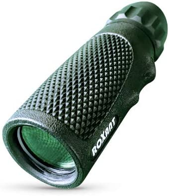Authentic Roxant Viper 10×25 Pocket Scope with Rubber Armor Snake-Grip Molded Finger Grip Weatherproof, Shockproof, Dust Proof. Includes, Case Wrist Strap, Cleaning Cloth Lifetime Support