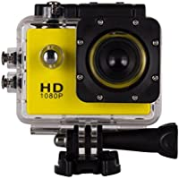 SMTSMT 2017 Waterproof Sports Recorder Car DV Action Camera Camcorder 1080P HD--Yellow